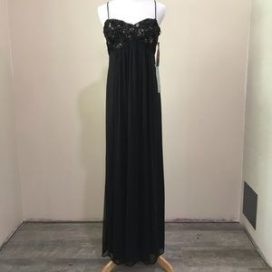 NWT black gown